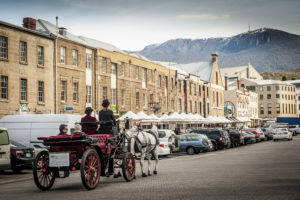 At Heritage Horse Drawn Carriages, we take pride in ensuring your tourism experience in Hobart will be unique and unforgettable.We aim to immerse you in the history and romance of Colonial Hobart by touring the Battery Point area and Salamanca Place driven by a pair of horses pulling an open carriage.